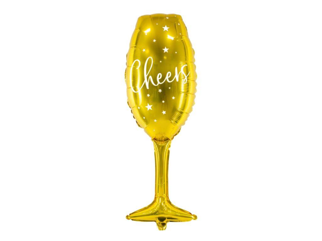 Μπαλόνι Foil Ποτήρι Σαμπάνιας Cheers 74εκ