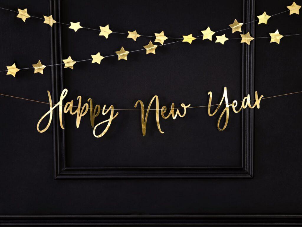 Χάρτινη Χρυσή Γιρλάντα Happy New Year