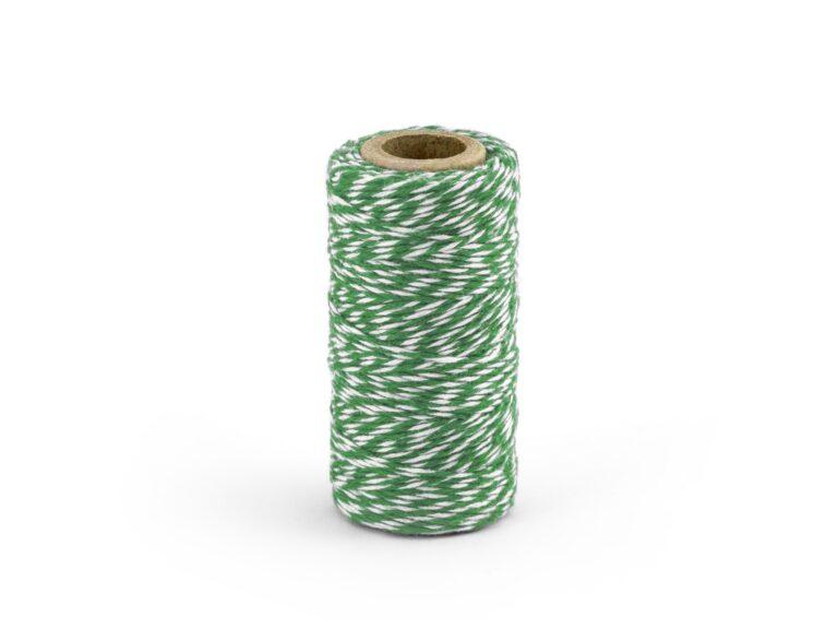 Νήμα 'Ασπρο-Πράσινο 50 Μέτρα