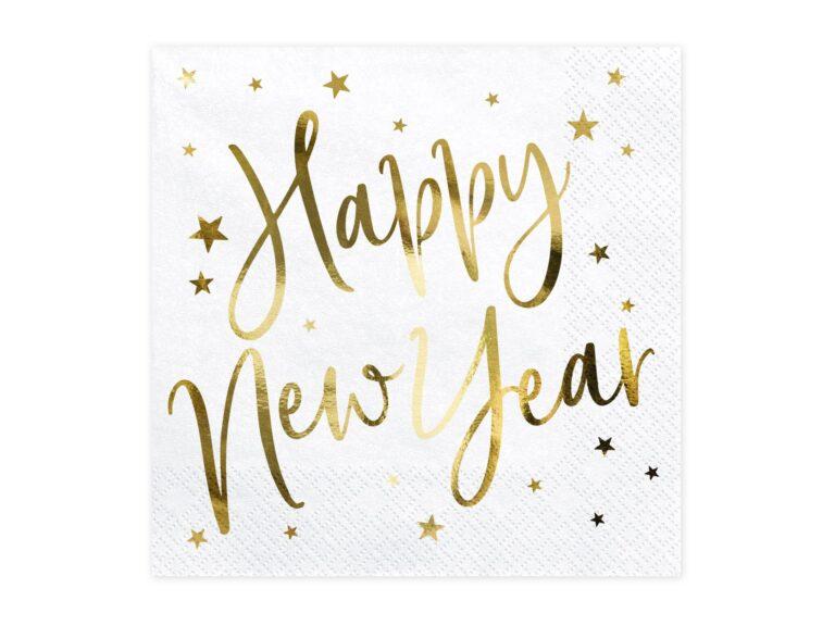 Χαρτοπετσέτες Happy New Year 33×33εκ – 20 Τεμάχια