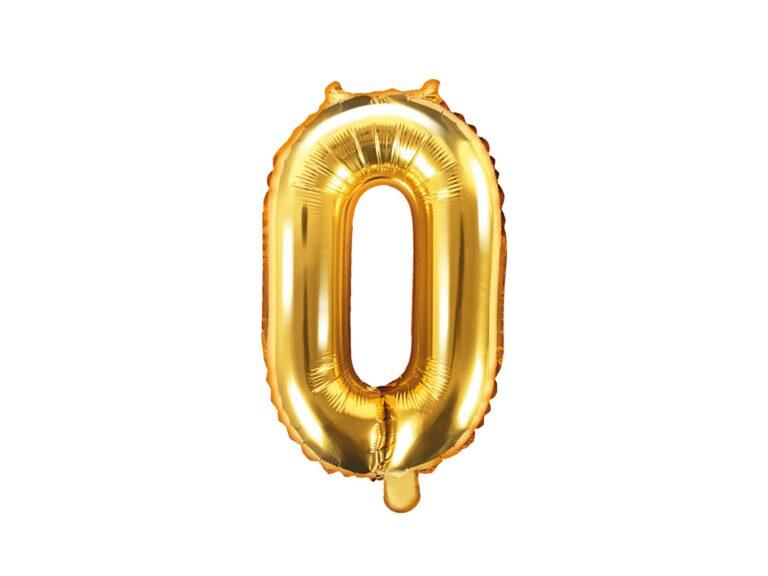 Μπαλόνι Foil Χρυσό Αριθμός Μηδέν 35εκ