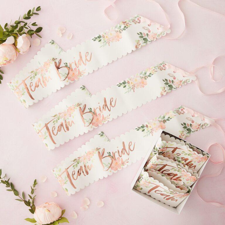 Κορδέλες Team Bride Floral – 6 Τεμάχια