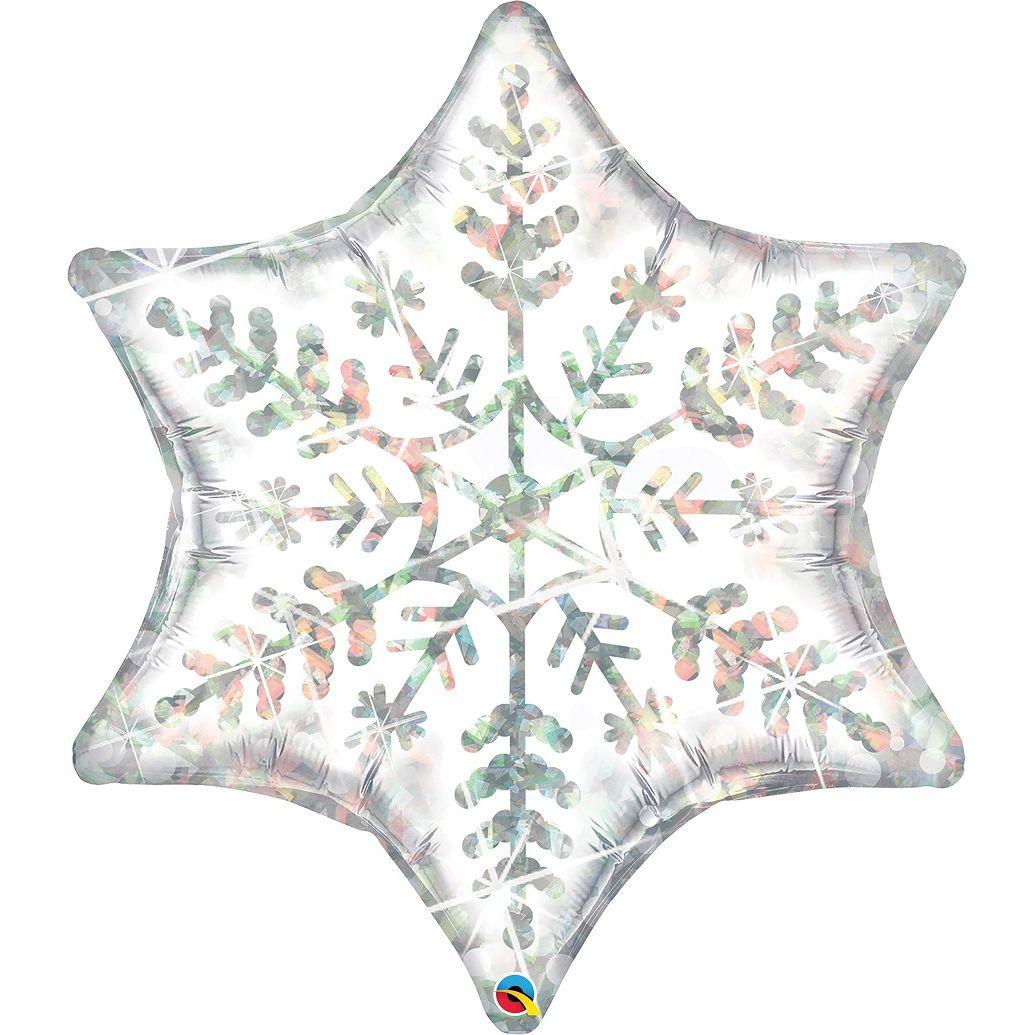 Μπαλόνι Foil Χιονονιφάδα Ολογραφικό 91εκ