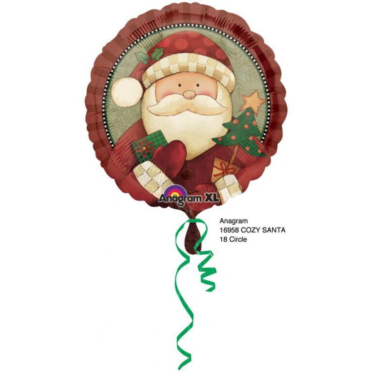 Μπαλόνι Foil Cozy Santa 46εκ