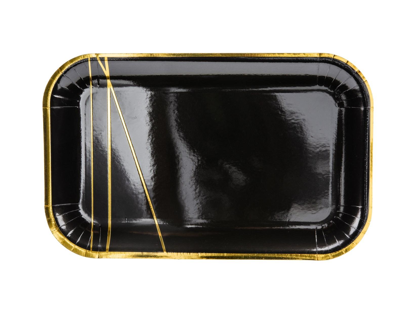 Χάρτινα Πιάτα Black Deluxe – 6 Τεμάχια