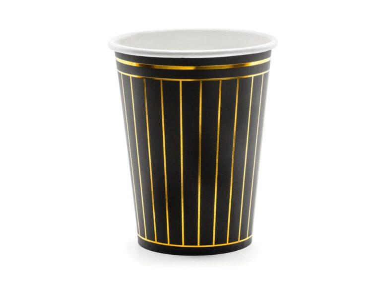 Χάρτινα Ποτήρια Black Deluxe 260ml – 6 Τεμάχια