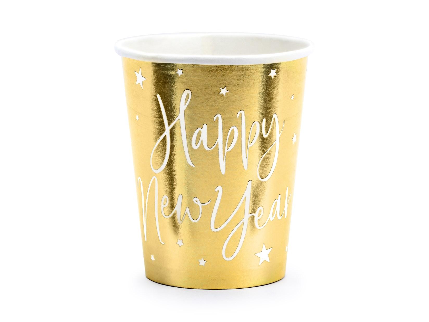 Χάρτινα Ποτήρια Happy New Year 220ml – 6 Τεμάχια