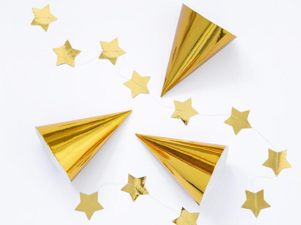 Χάρτινα Καπελάκια Χρυσά – 6 Τεμάχια