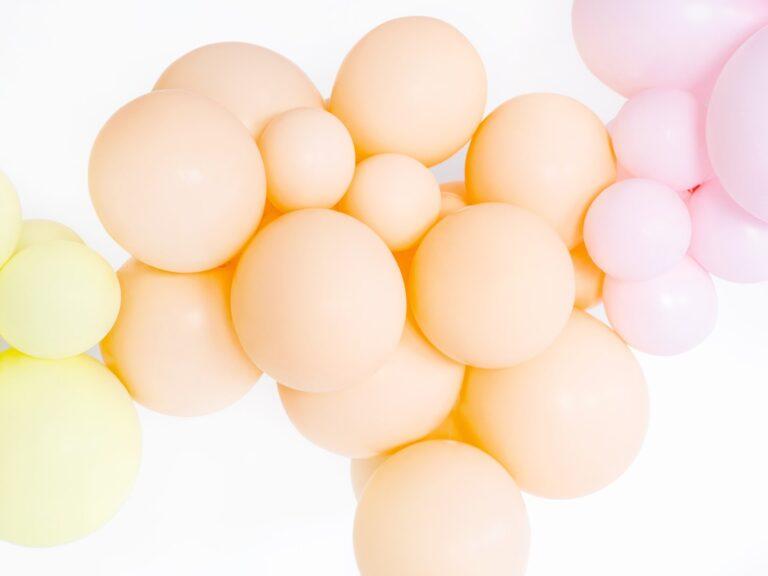 Μπαλόνια Latex Pastel Ροδακινί 27εκ – 10 Τεμάχια