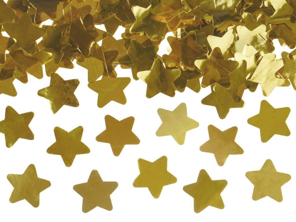 Κανόνι Κονφετί Χρυσά Αστεράκια 40εκ