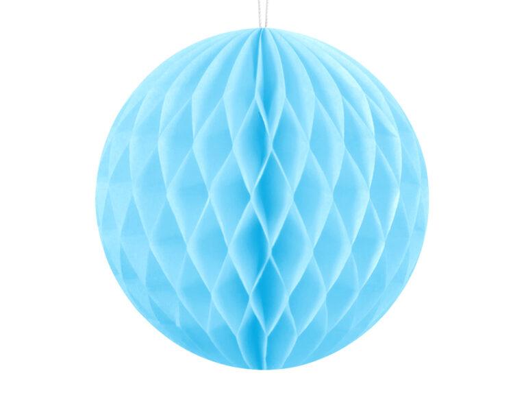 Χάρτινη Διακοσμητική Μπάλα Γαλάζια 10εκ