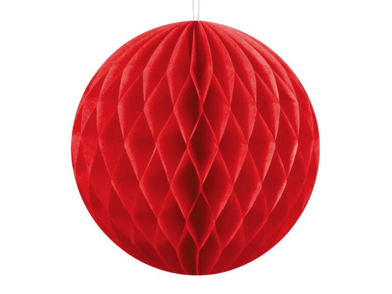 Χάρτινη Διακοσμητική Μπάλα Κόκκινη 10εκ