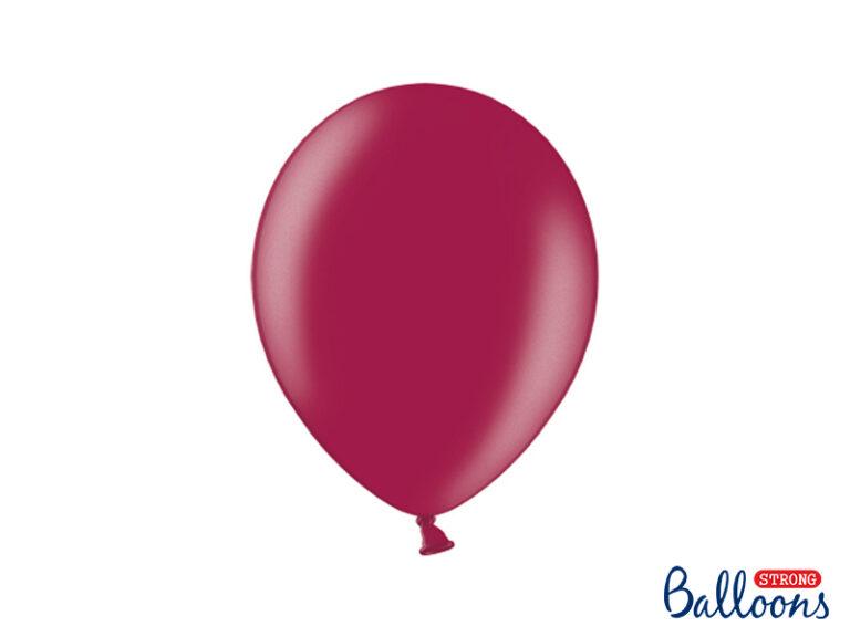 Μπαλόνια Latex Μεταλλικό Μαρόν 27εκ – 10 Τεμάχια