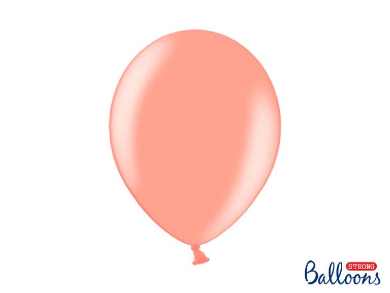 Μπαλόνια Latex Μεταλλικό Ροζ Χρυσό 30εκ – 10 Τεμάχια