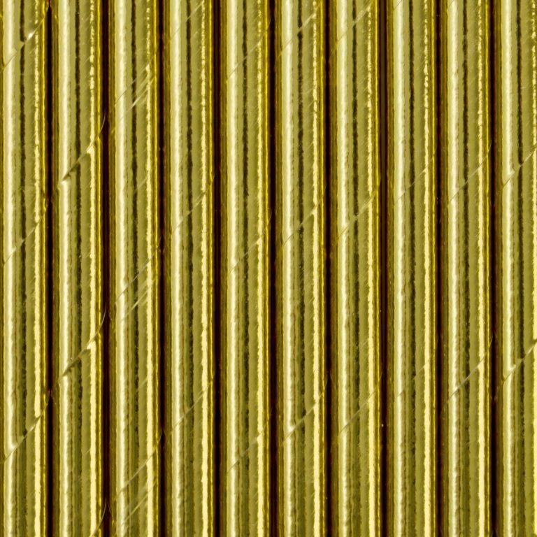 Χάρτινα Καλαμάκια Χρυσά – 10 Τεμάχια