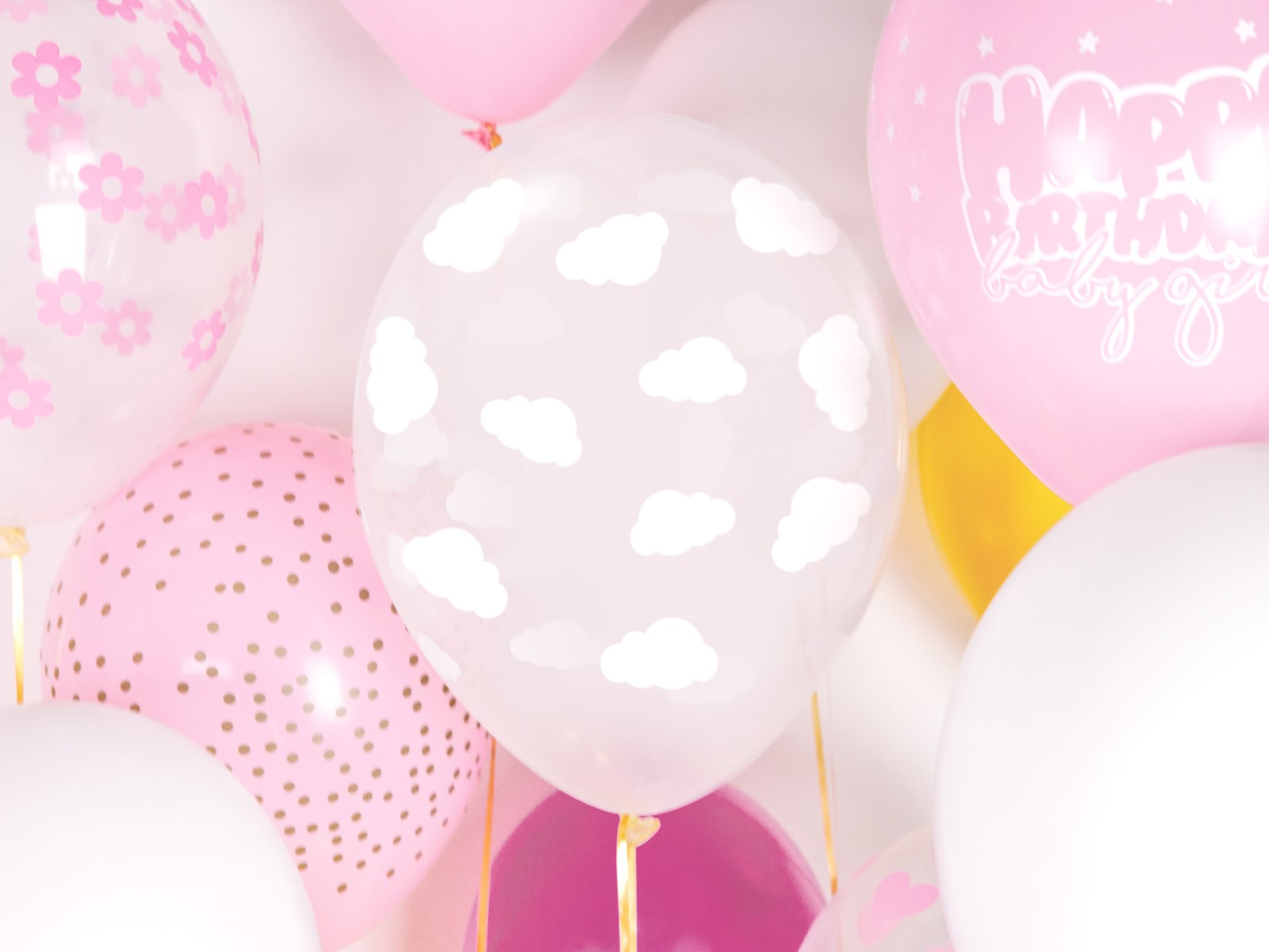 Μπαλόνια Latex Λευκά Συννεφάκια – 6 Τεμάχια