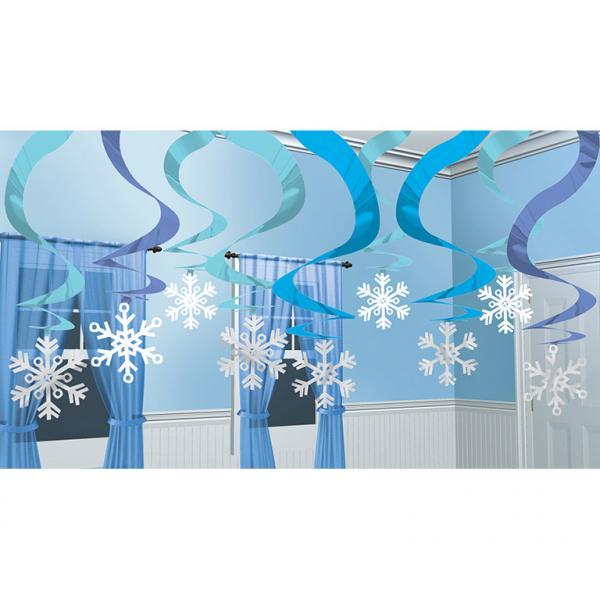 Κρεμαστά Διακοσμητικά Χιονονιφάδες – 15 Τεμάχια
