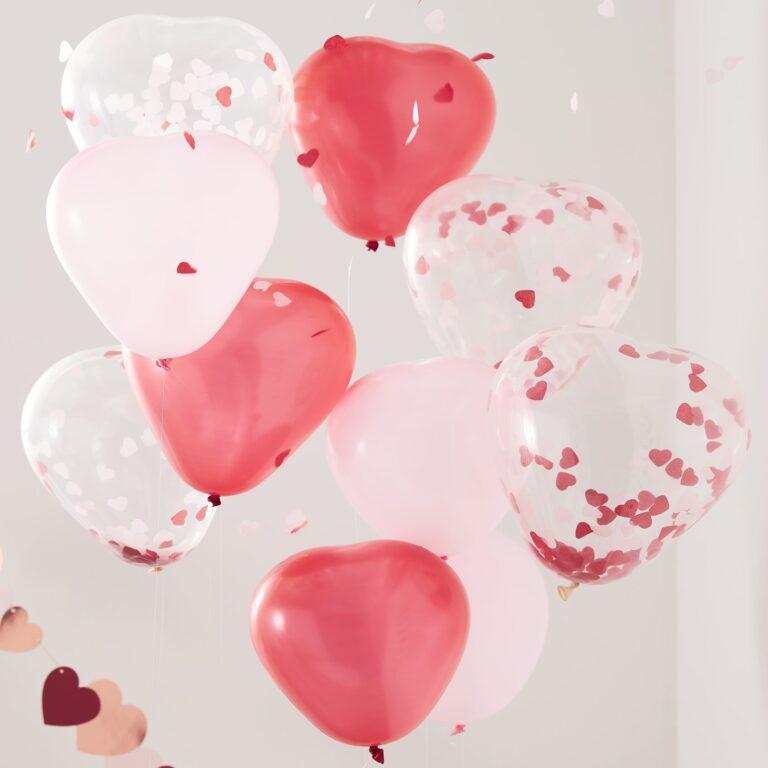 Μπαλόνια Latex Hearts Mix – 10 Τεμάχια