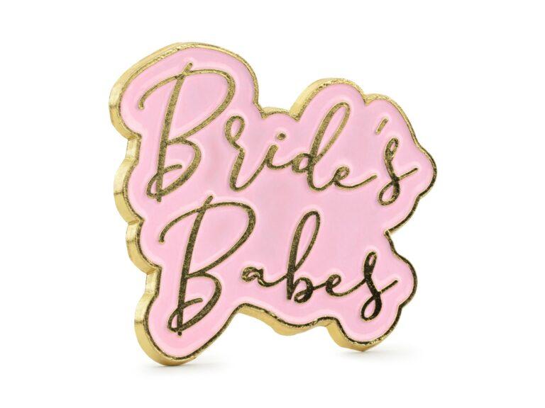 Μεταλλική Καρφίτσα Bride's Babes 3,5×3εκ