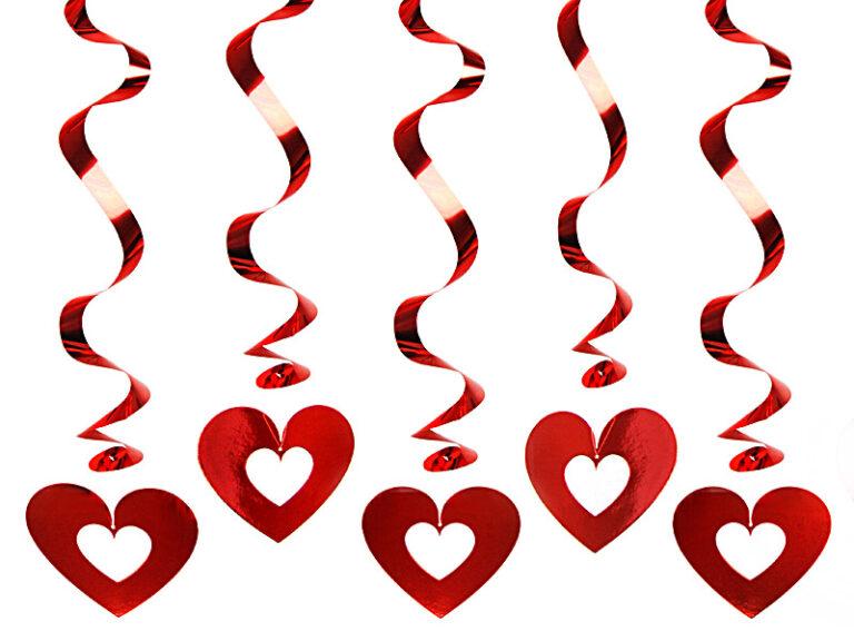 Κρεμαστά Διακοσμητικά Καρδιές Cutout – 5 Τεμάχια