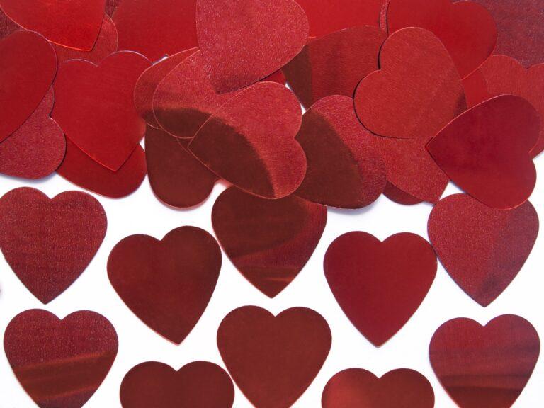 Κονφετί Foil Κόκκινες Καρδιές 25mm – 10 Γραμμάρια
