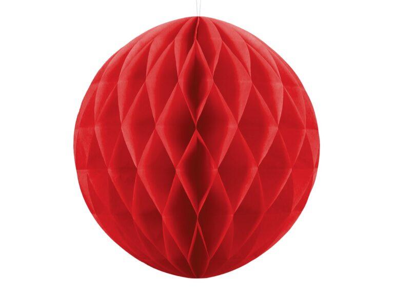 Χάρτινη Διακοσμητική Μπάλα Κόκκινη 30εκ