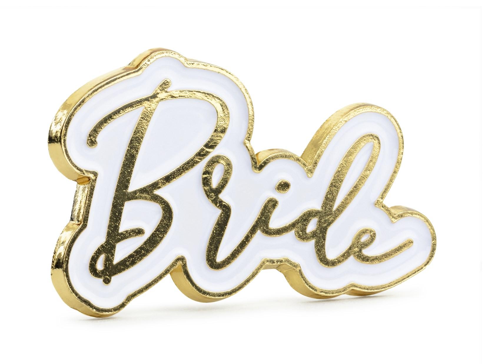 Μεταλλική Καρφίτσα Bride 3,5×2εκ