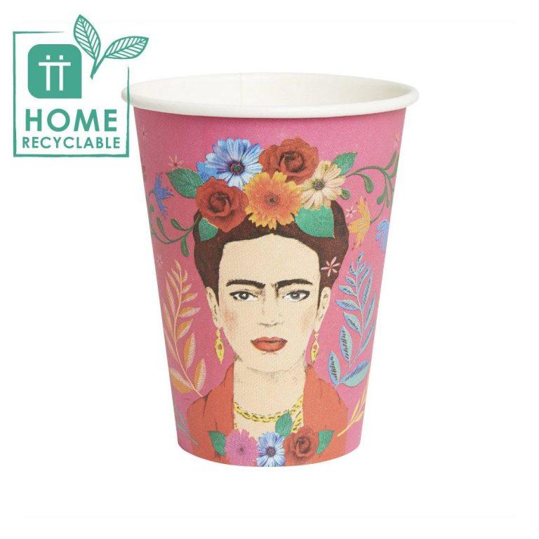 Χάρτινα Ποτήρια Frida 330ml – 8 Τεμάχια
