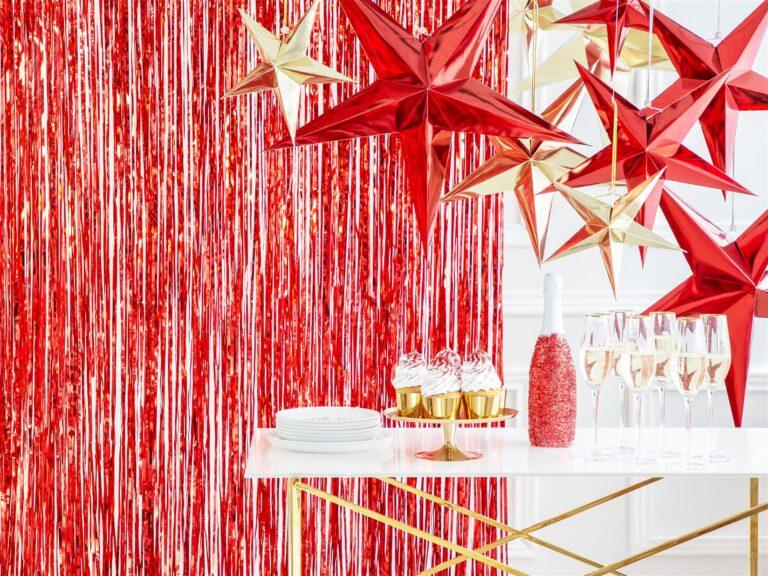 Διακοσμητική Κουρτίνα Κόκκινη 90×250εκ.