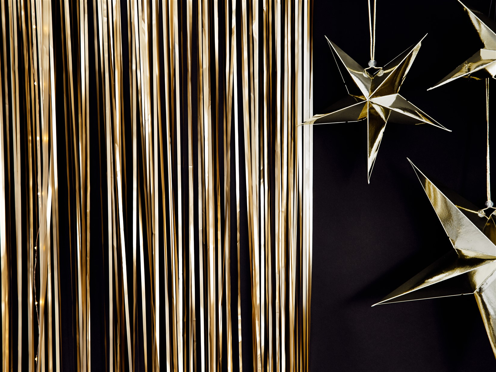 Διακοσμητική Κουρτίνα Χρυσή Ματ 90×250εκ