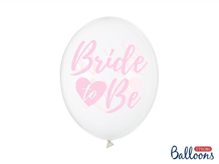 Διάφανα Μπαλόνια Latex Bride to Be Ροζ – 6 Τεμάχια