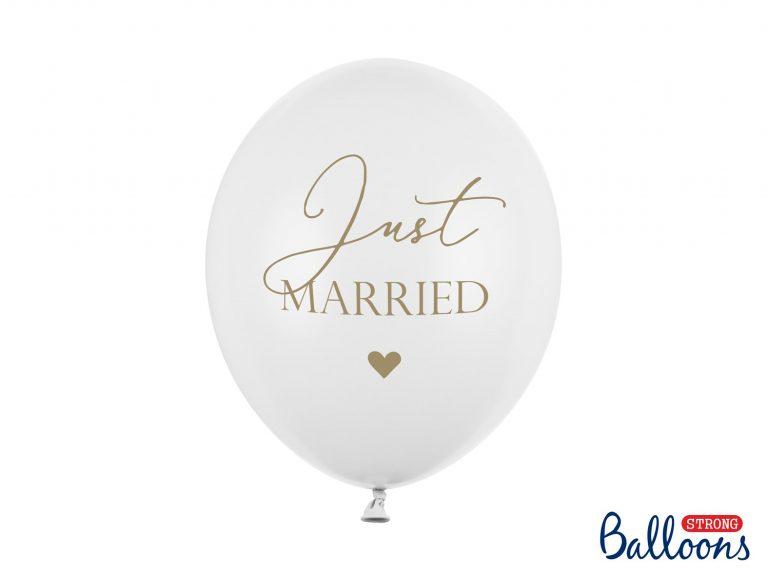 Μπαλόνια Latex Just Married – 6 Τεμάχια