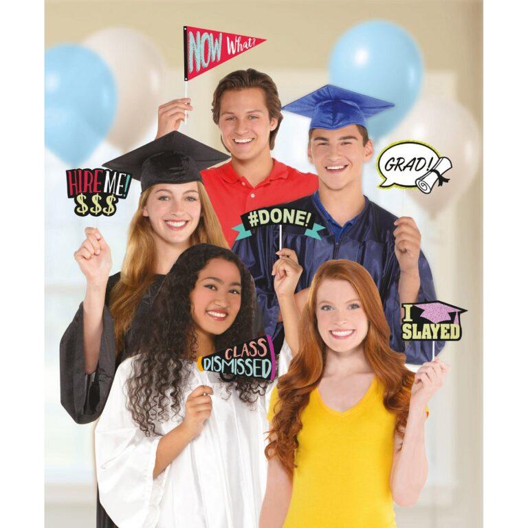 Photo Booth Props Graduation – 15 Τεμάχια
