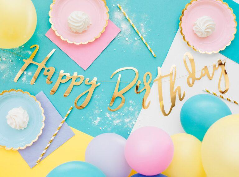 Χάρτινη Γιρλάντα Happy Birthday Χρυσή