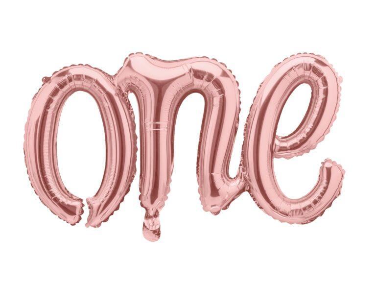 Μπαλόνι Foil One Ροζ Χρυσό 66×37εκ
