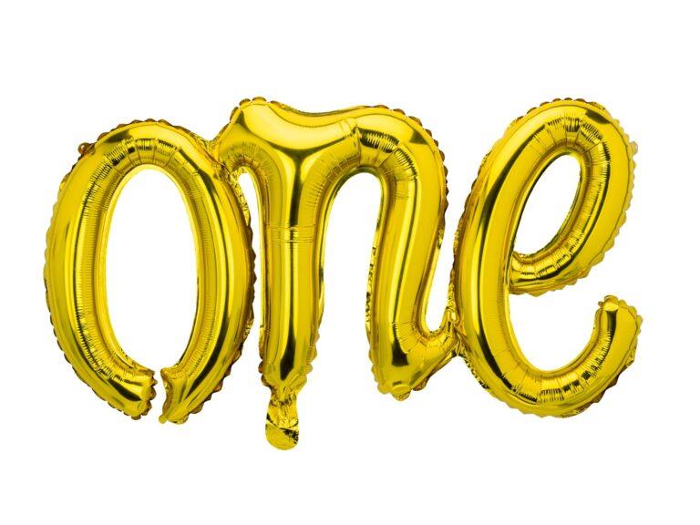 Μπαλόνι Foil One Χρυσό 66×37εκ