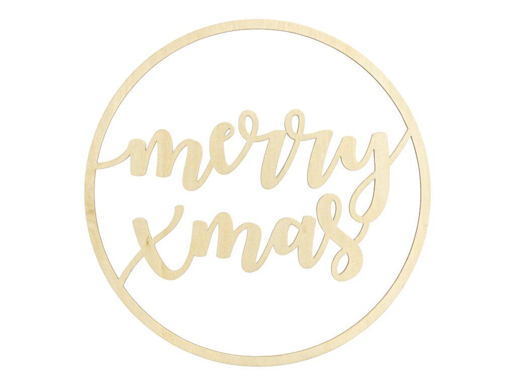 Ξύλινο Διακοσμητικό Merry Xmas 28εκ