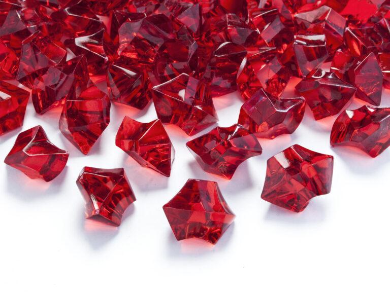 Κρυσταλλάκια Κόκκινα 25×21χλστ – 50 Τεμάχια