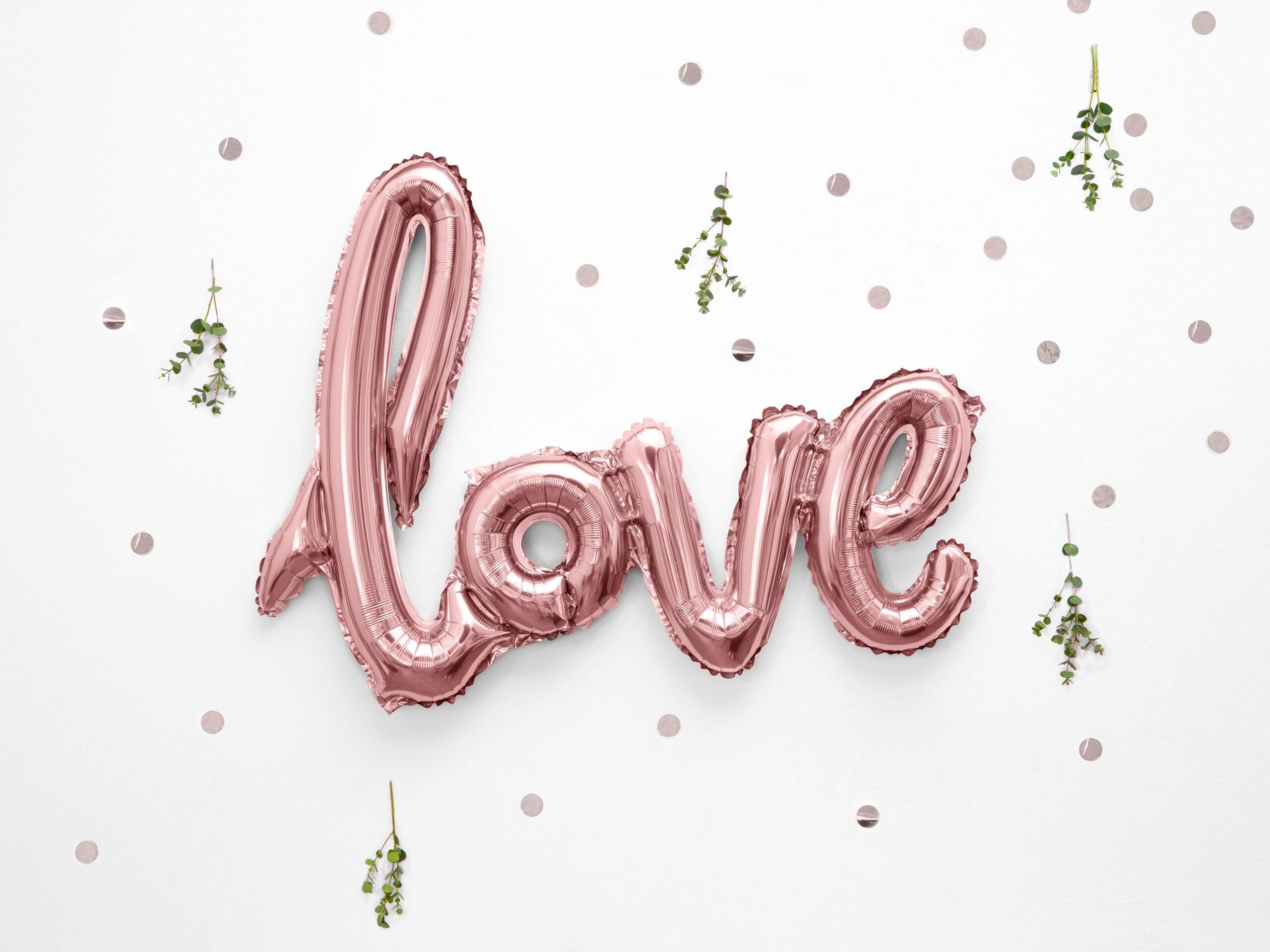 Μπαλόνι Foil Love Ροζ Χρυσό 73×59εκ
