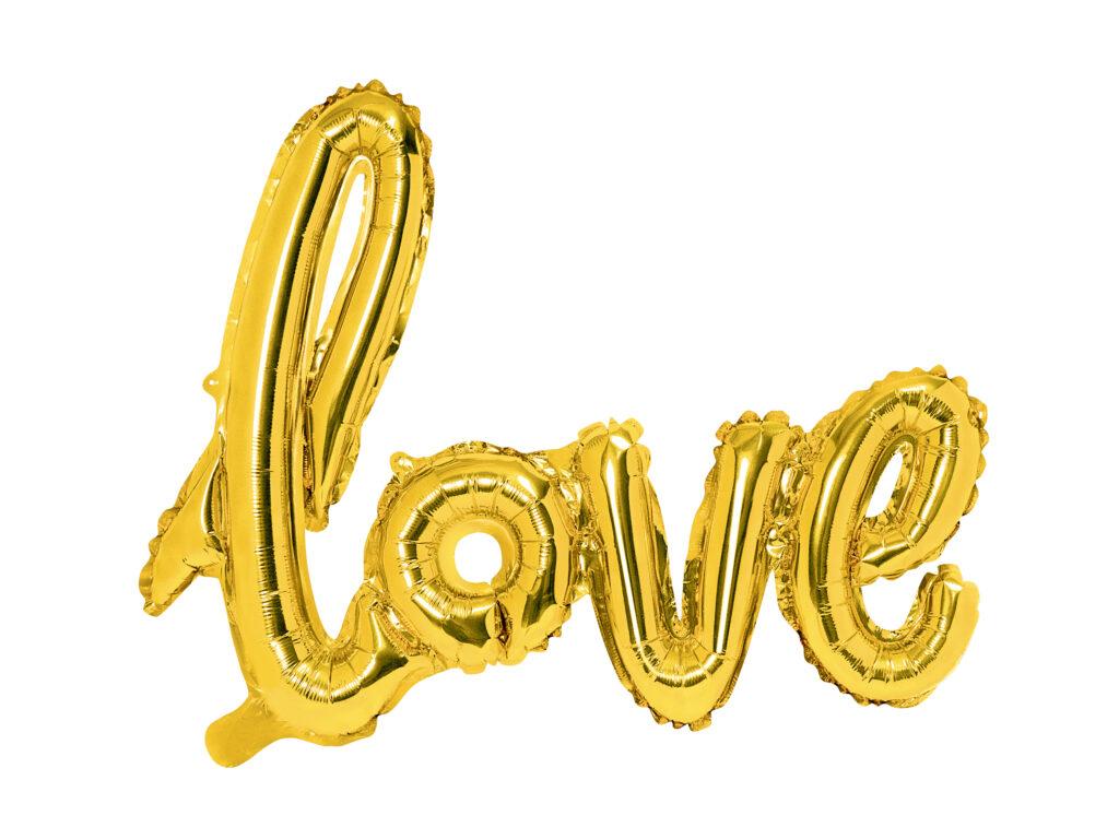 Μπαλόνι Foil Love Χρυσό 73×59εκ