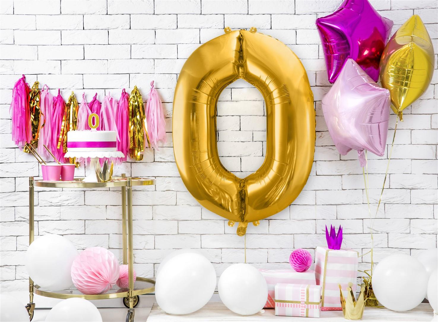 Μπαλόνι Foil Χρυσό Αριθμός Μηδέν 86εκ