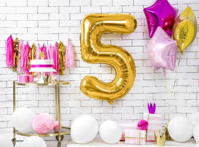 Μπαλόνι Foil Χρυσό Αριθμός Πέντε 86εκ
