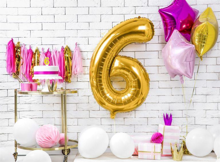 Μπαλόνι Foil Χρυσό Αριθμός Έξι 86εκ