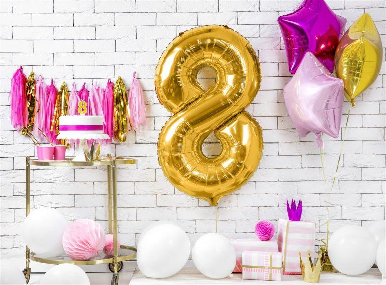 Μπαλόνι Foil Χρυσό Αριθμός Οκτώ 86εκ