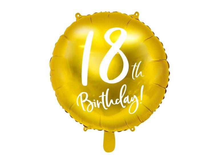 Μπαλόνι Foil Χρυσό 18th Birthday 45εκ
