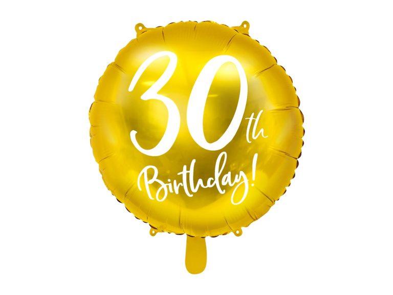 Μπαλόνι Foil Χρυσό 30th Birthday 45εκ