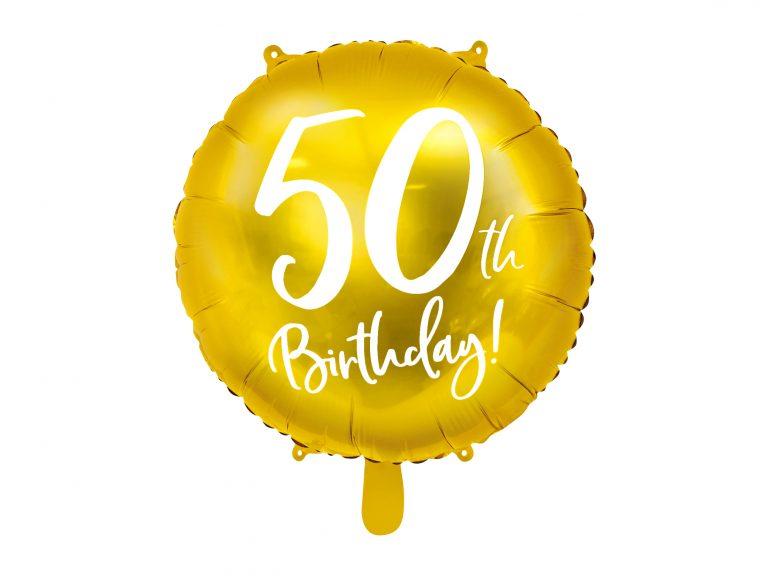 Μπαλόνι Foil Χρυσό 50th Birthday 45εκ