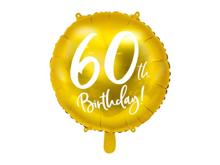Μπαλόνι Foil Χρυσό 60th Birthday 45εκ