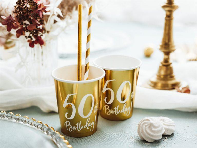 Χάρτινα Ποτήρια 50th Birthday 220ml – 6 Τεμάχια