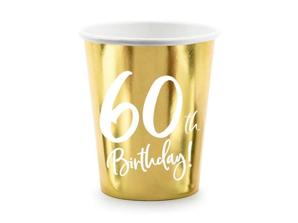 Χάρτινα Ποτήρια 60th Birthday 220ml – 6 Τεμάχια